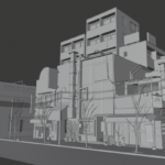 3D modeling japanese city
