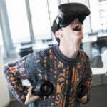 VR video games interactive