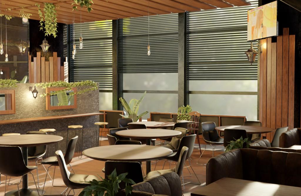 restaurant 3D design, designer freelance