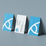 Triple Business Card Mockup by Anthony Boyd Graphics